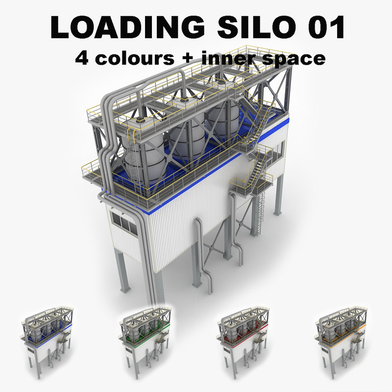 3ds industrial loading silo 01