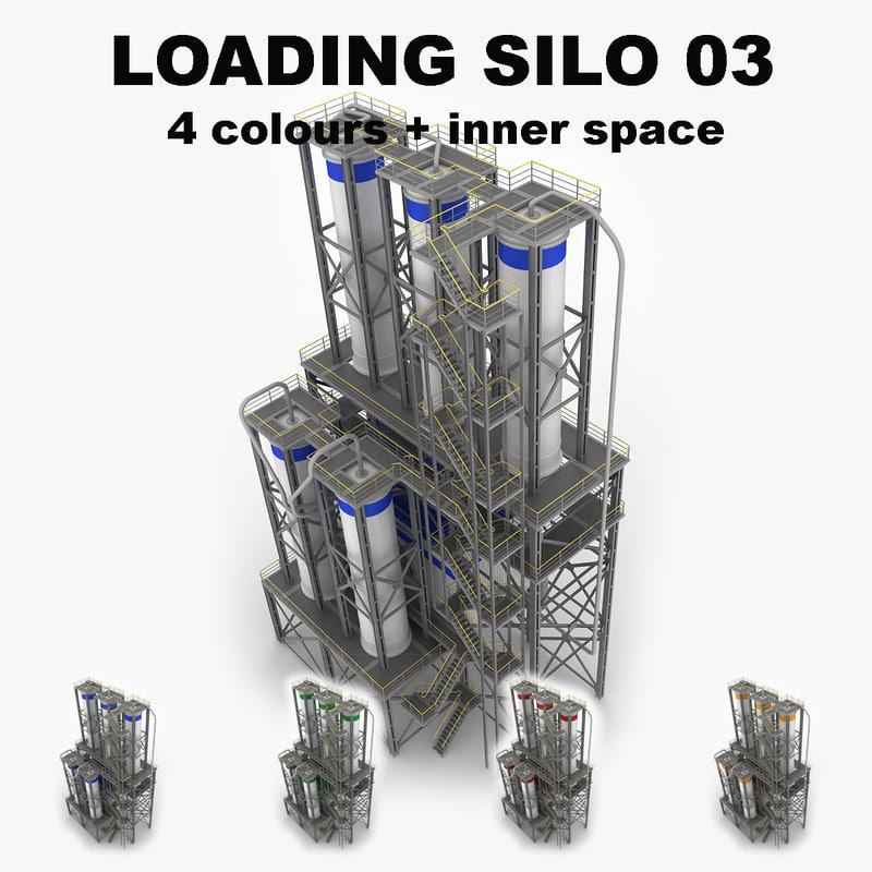 3d industrial loading silo 03 model