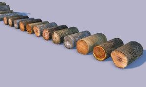 wooden logs wood 3d model