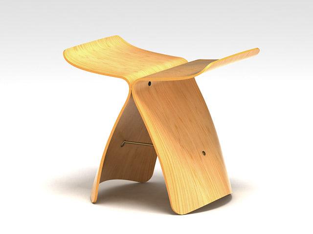 chair butterfly 3d model