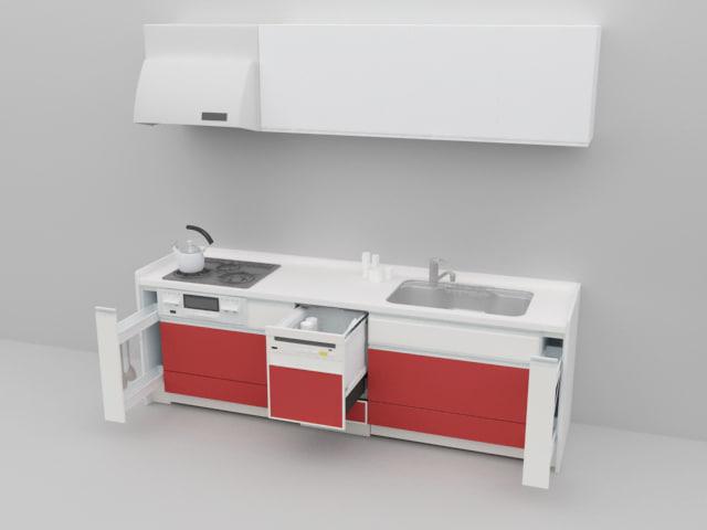 kitchen 01 3d dxf