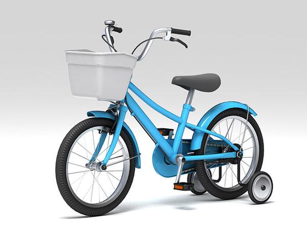 3d model of child bike