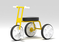 tricycle bike 3d model
