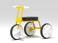 tricycle bike 3d model