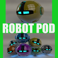 yellow robotic pod 3d 3ds