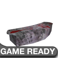 free obj model bloody marble desk