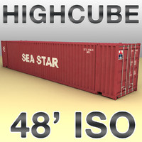 max 48 feet highcube container ship