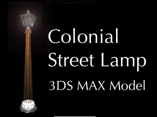3d model street colonial