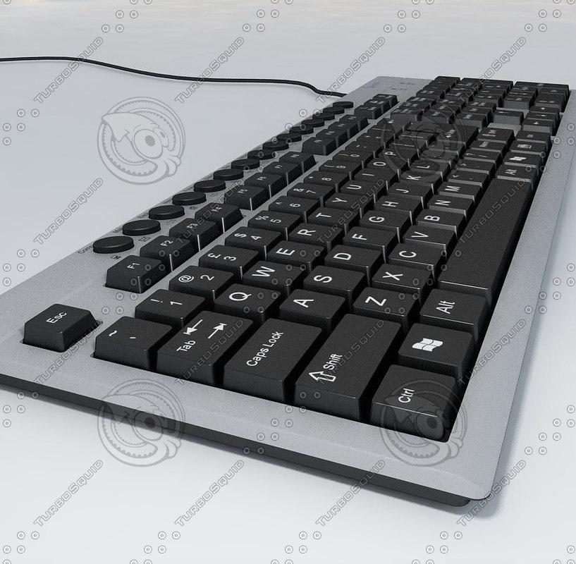 keyboard 3d obj