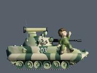 3d cartoon bmp2 boy