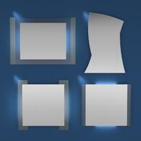 simple design modern mirrors 3d 3ds