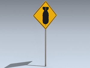 3d road sign bomb