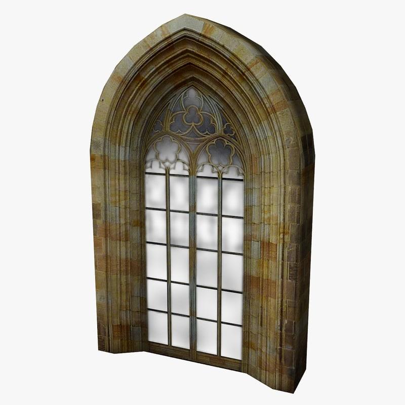 medieval castle window 3d max