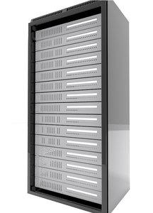 data server rack 3d model