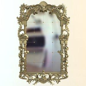 mirror antique 3d 3ds