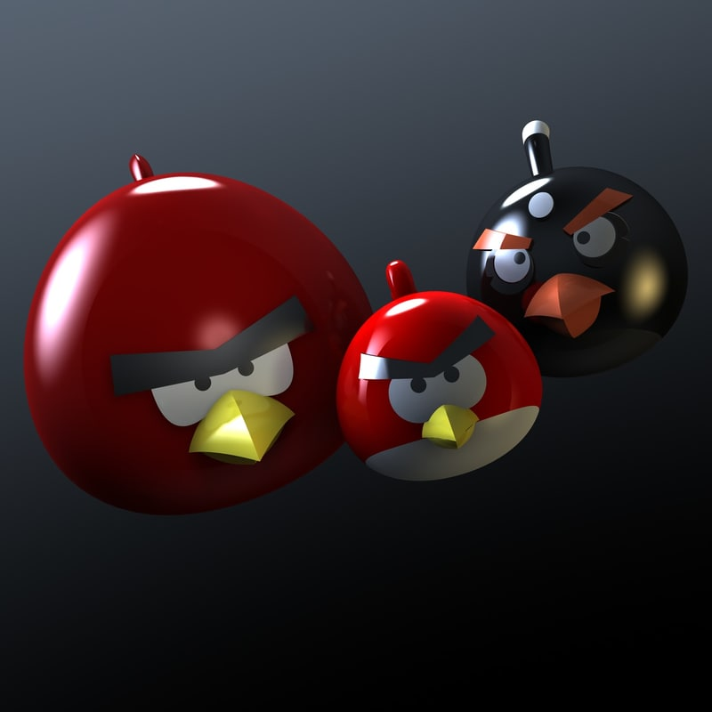 angry birds c4d