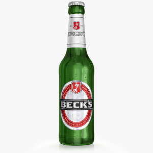 beck s beer bottle 3d obj