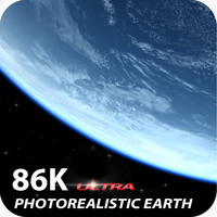 3d model of solar 86k earth surface