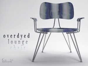3d overdyed lounge chair model