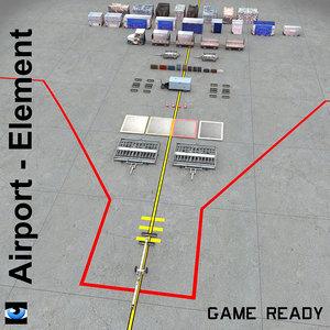 airport element 3d max