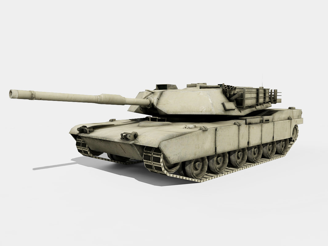 abrams tank fbx