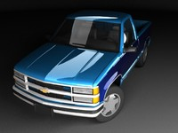 chevrolet c1500 mk4 cab 3d model