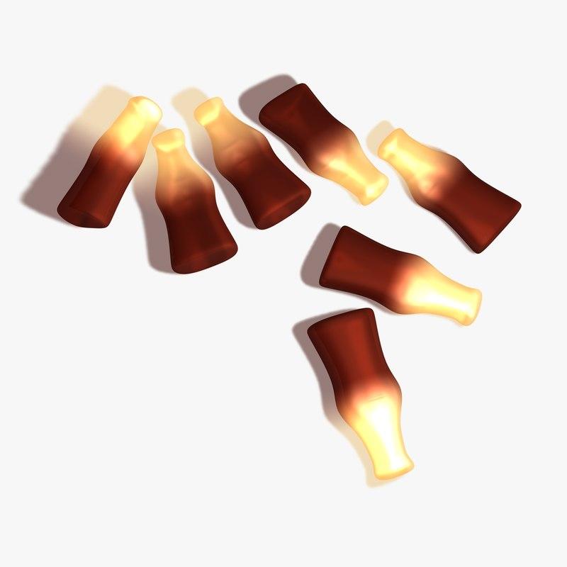 cola bottle sweets 3d model