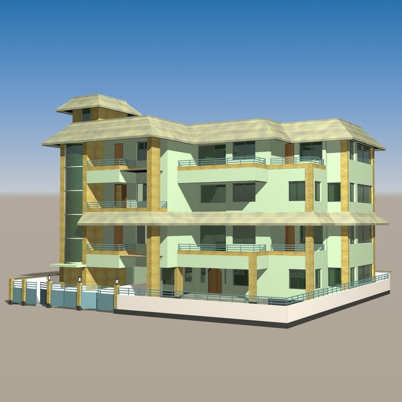 3ds max duplex building