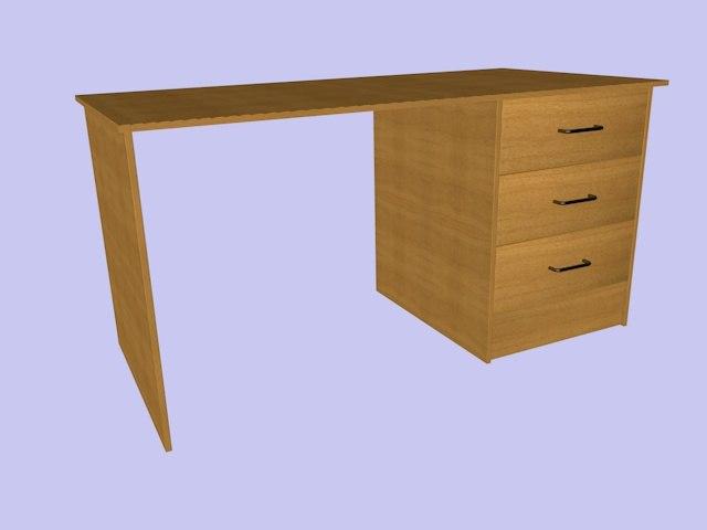 desk wood wooden c4d