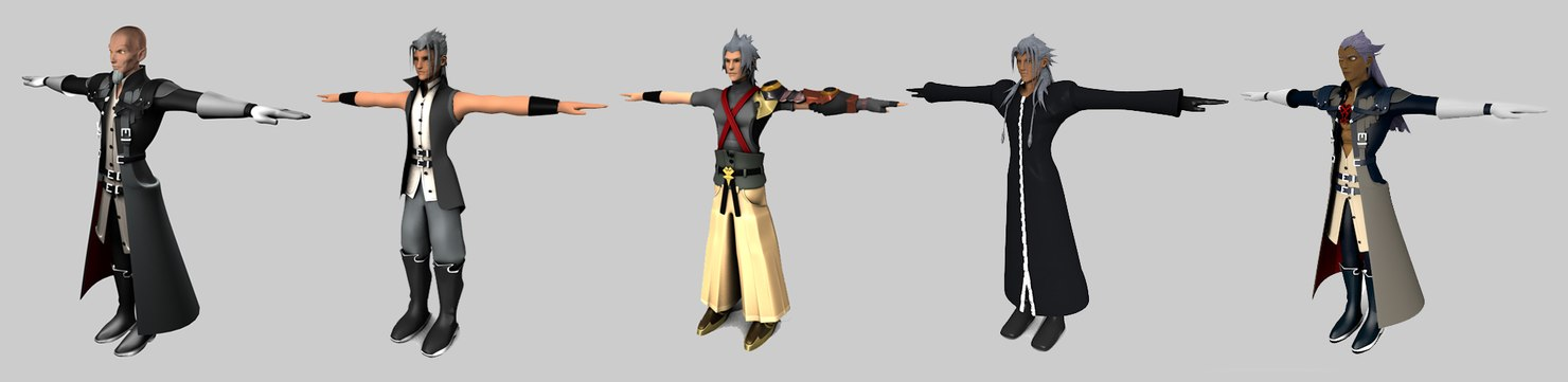 3d xehanort old young model