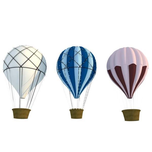 3d hot air balloons model