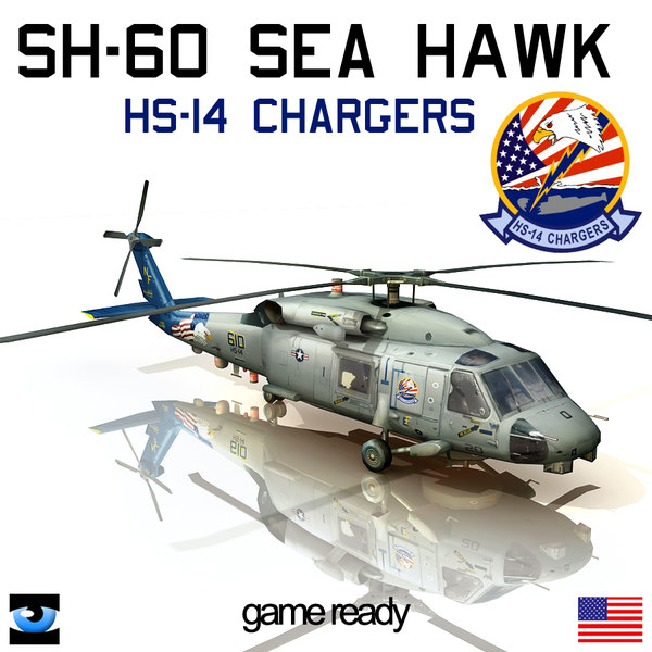 3d sh-60 hs-14 model