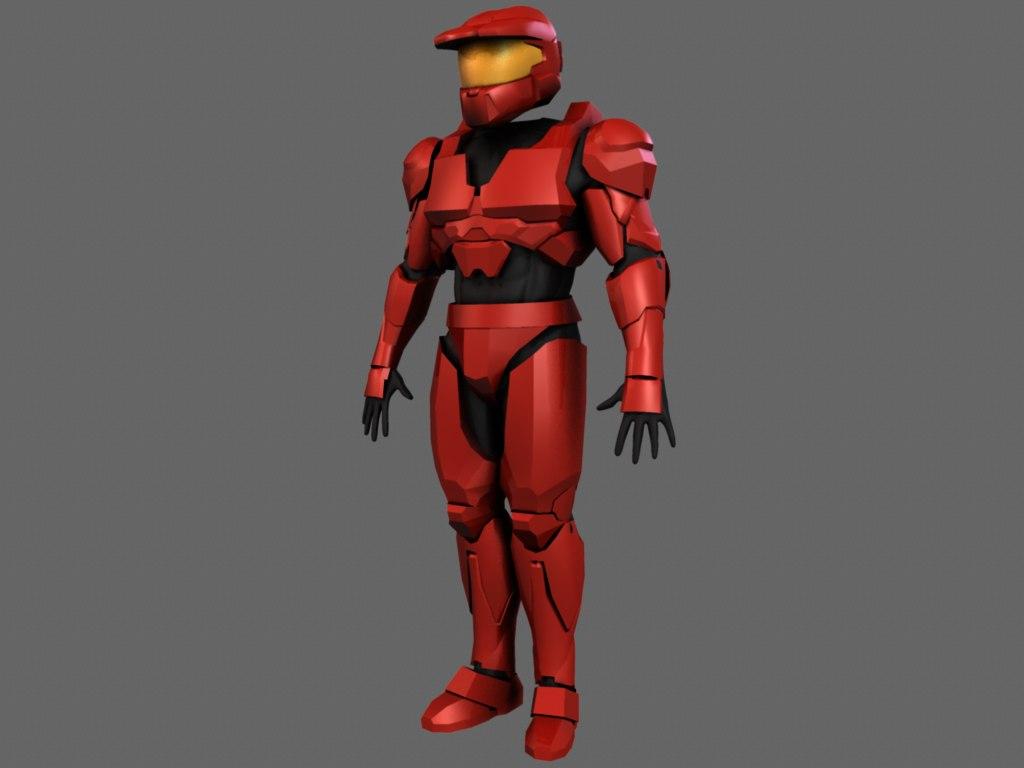 3dsmax halo armor