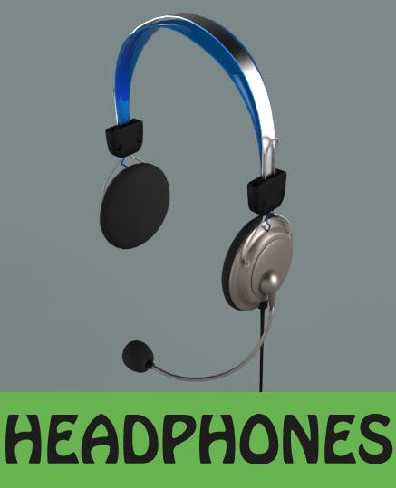 headphones obj