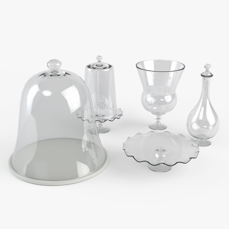 old style kitchen glassware 3ds