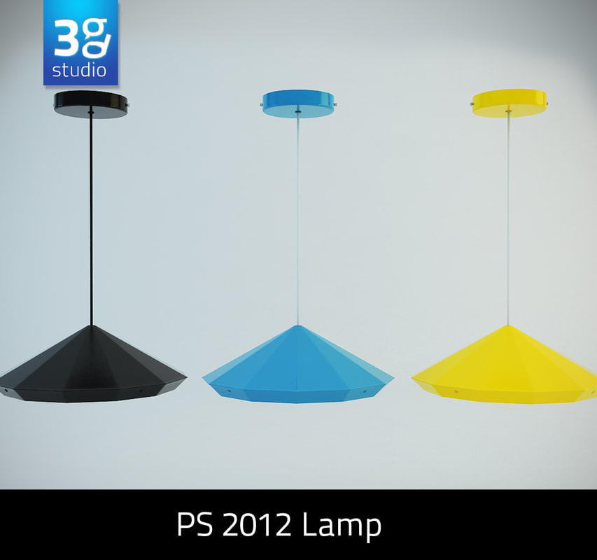 3ds max ps 2012 led pendant lamp