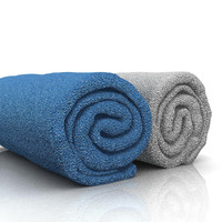 3d model towel roll