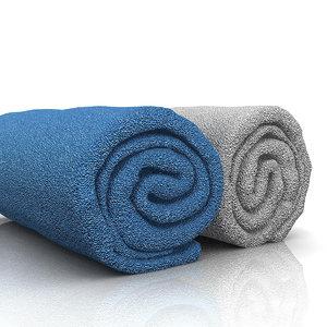 3d model towel roll