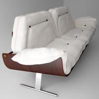 jacaranda sofa jorge zalszupin 3d model