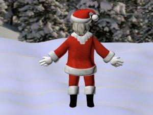 free santa 2012 3d model