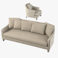 Baker Barbara Barry 6701s Soiree Sofa & Chair Set
