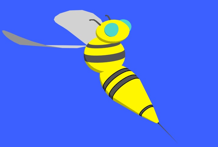 max simple cartoon bee