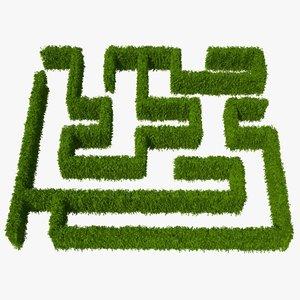 hedge plants 3d obj