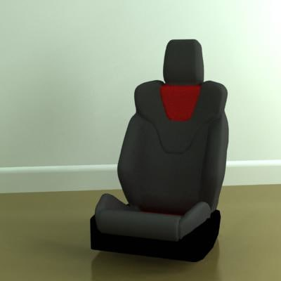3ds max sports car seat