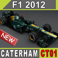 3d caterham ct01 car