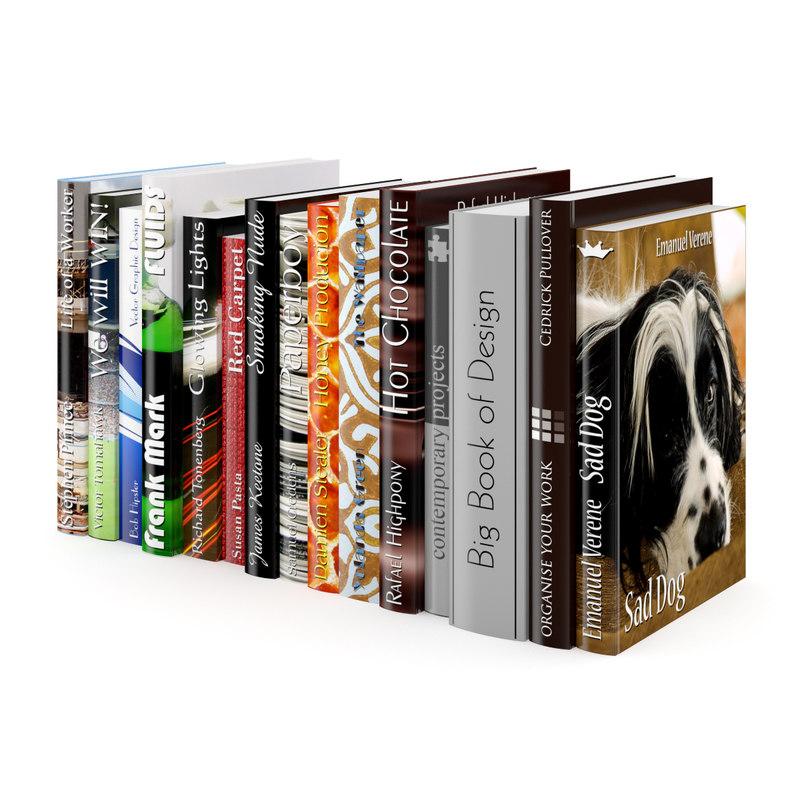 book set 3d model
