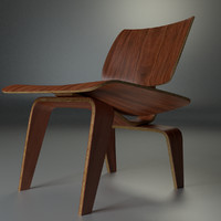 eames plywood lounge chair 3d model