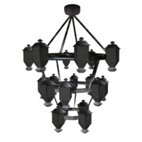 chandelier video games 3d obj