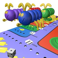 cootie board toy 3d model