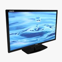 3d model 46 inches television sharp